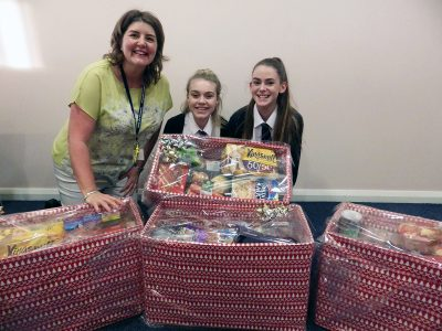 Preparing hampers to support some families - December 2017