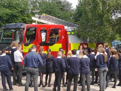 WY Fire Service visit the school