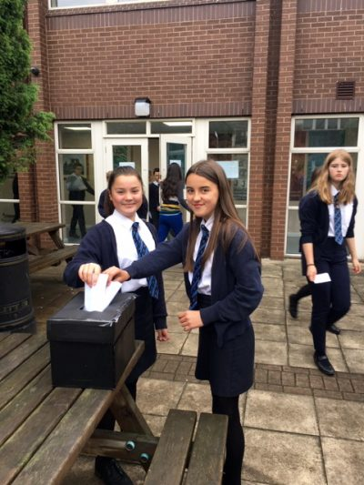 Pupils are voting for Head Boy and Head Girl team