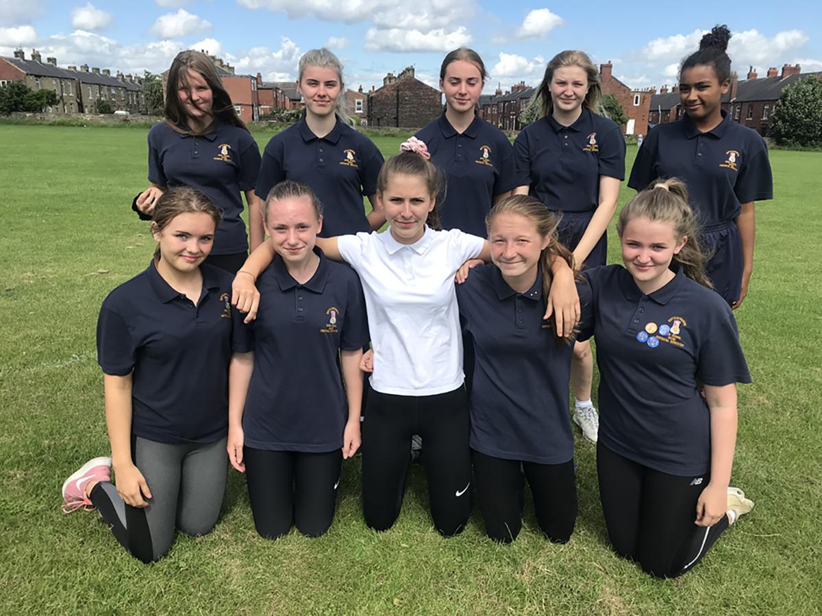 Y9 Rounders team - winners of Wakefield District 2019