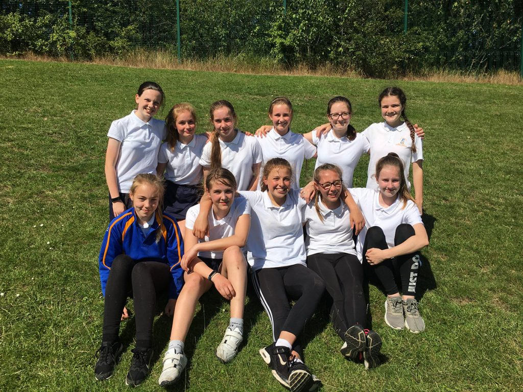 Y8 Rounders team - winners in Wakefield District 2019