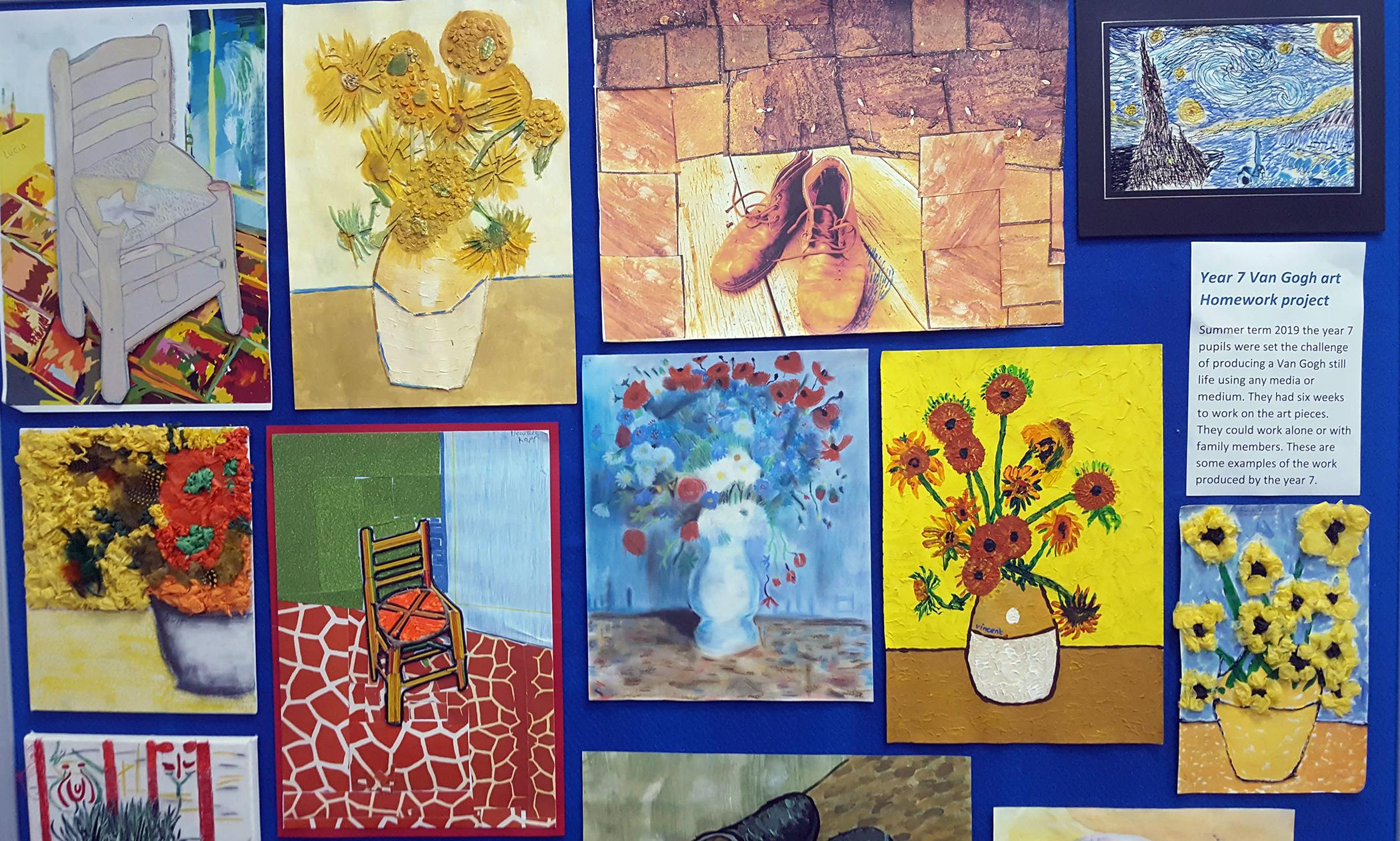 Year 7 Van Gogh artwork