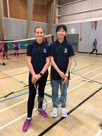 Badminton with our Chinese visitors - October 2019