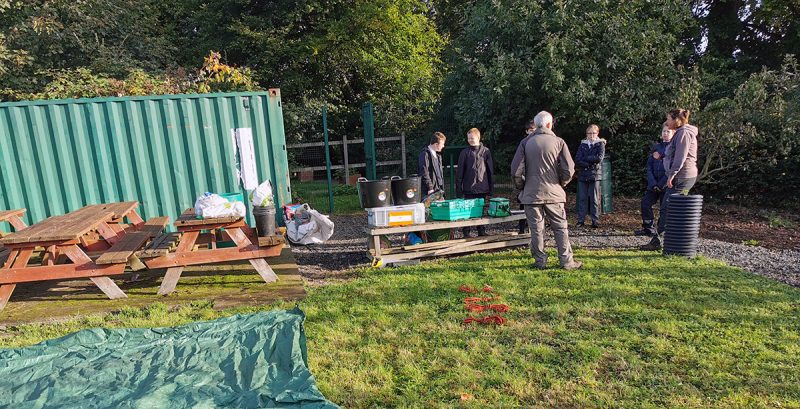 School allotment - Year 8 get to work October 2019