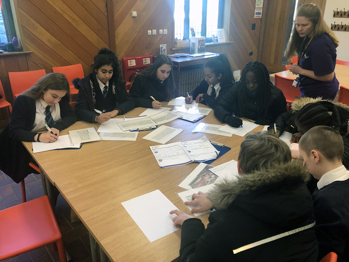 Year 8 creative writing workshop at Pontefract Castle