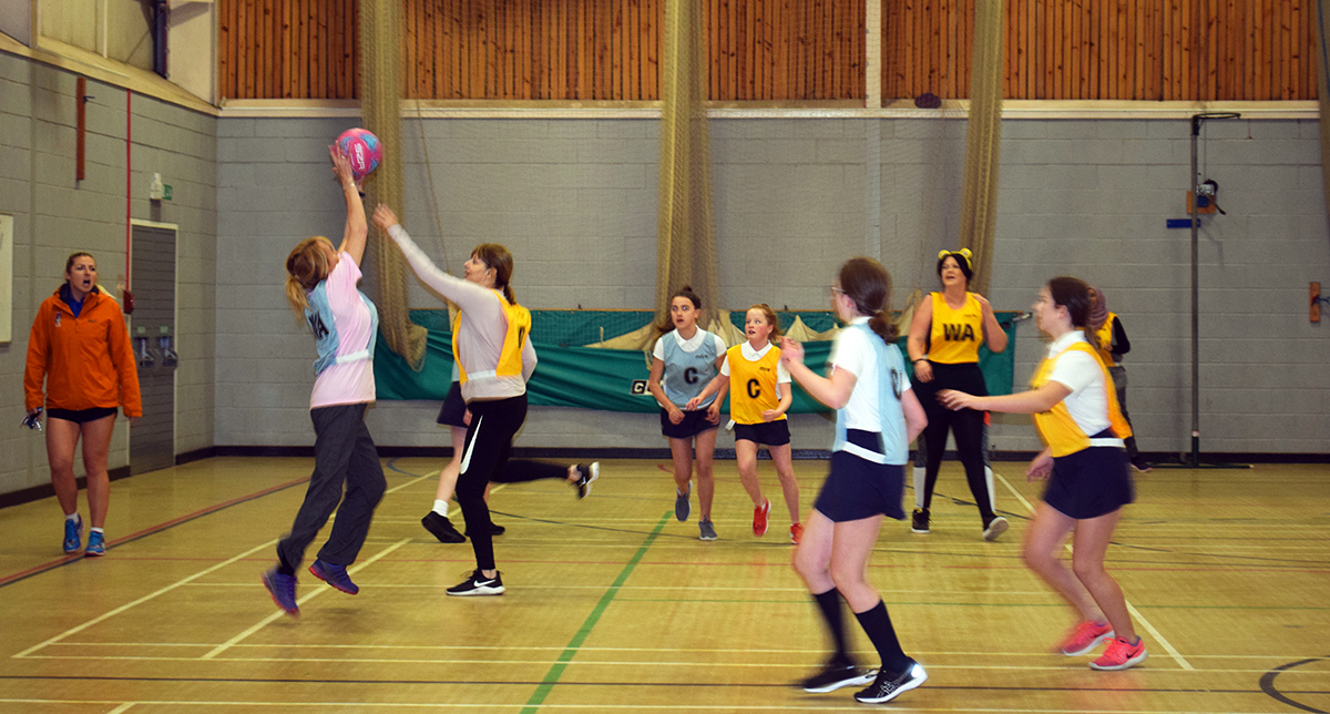 Netball game for BBC Children in Need
