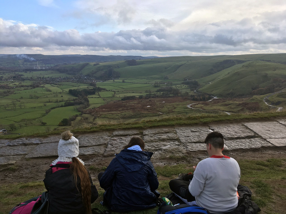 Year 10 Outdoor Pursuits pupils in Peak District