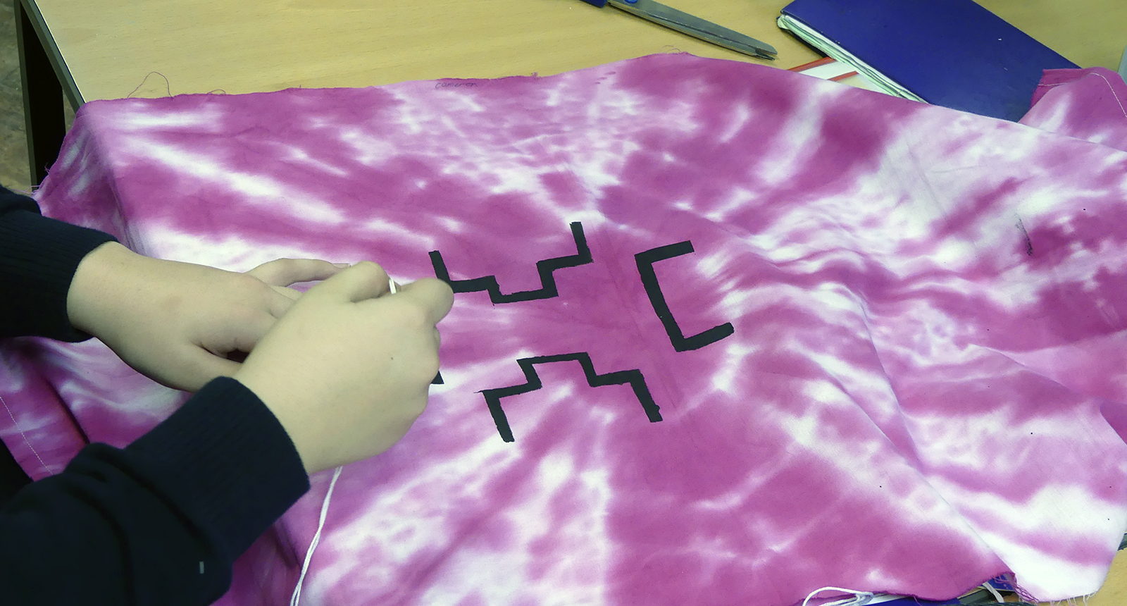 Year 8 Textiles - tie dye project