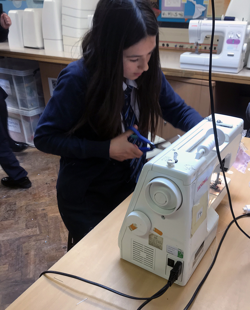 Kettlethorpe pupils sewing for the NHS