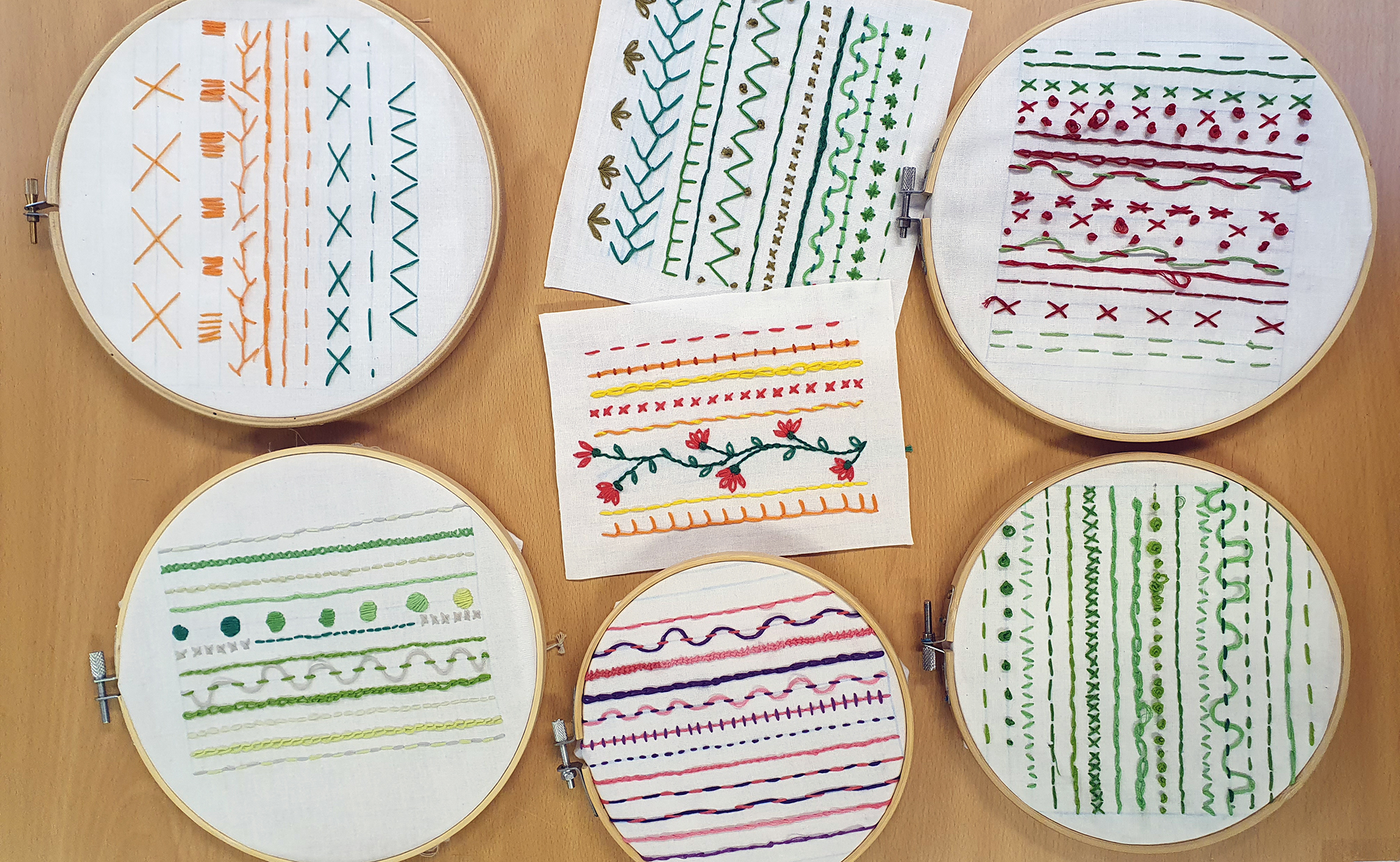 Year 9 embroidery