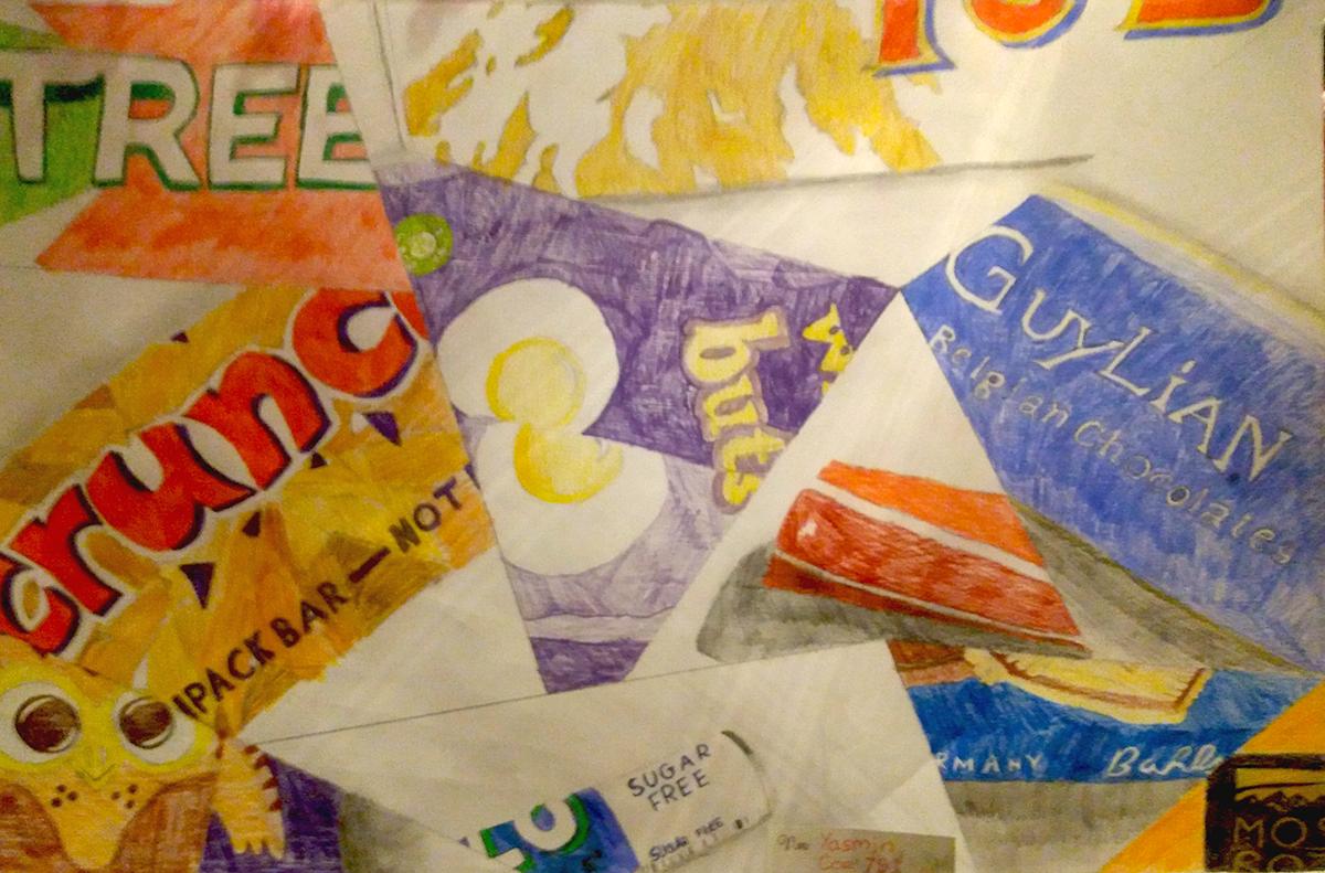 Year 7 Cubism art homework - January 2021