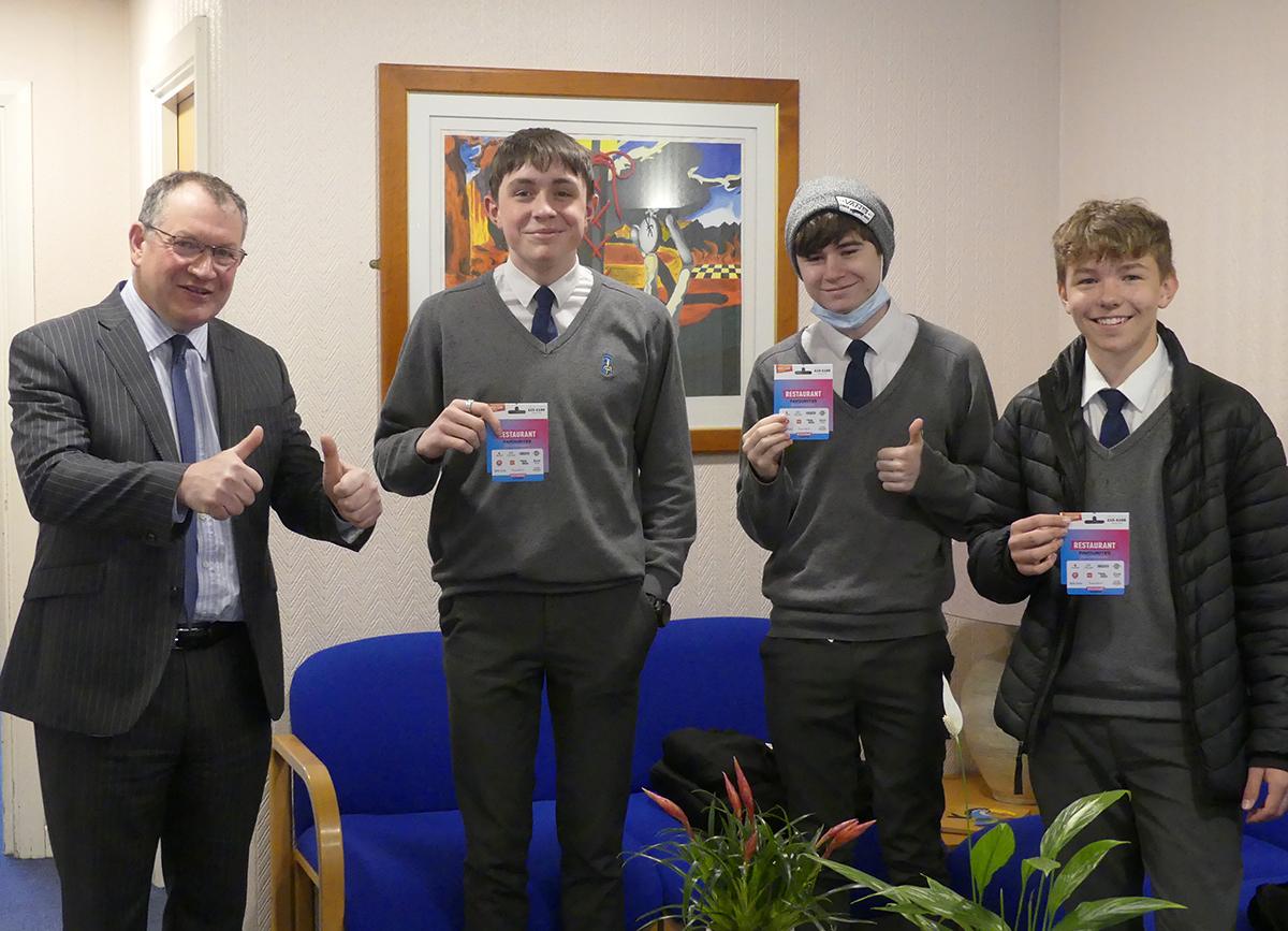 Top GCSEPod performers get a reward from the Headteacher