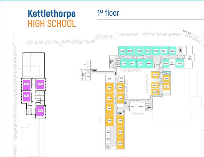 School map - 1st floor