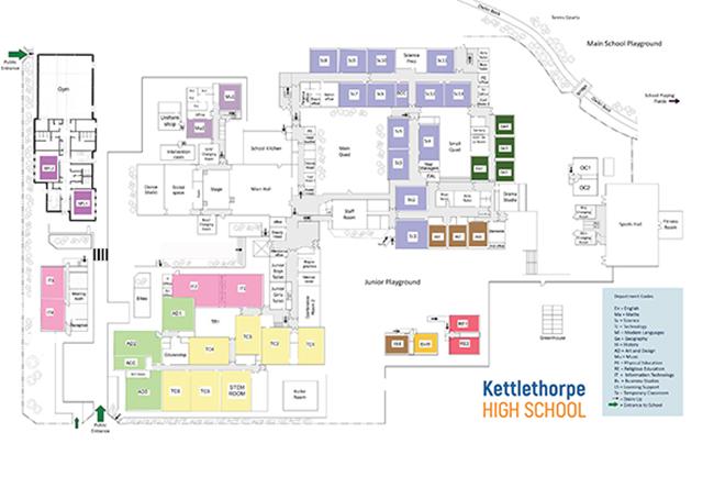 School map - ground floor