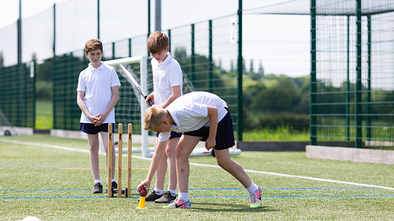 Pupils in a PE lesson