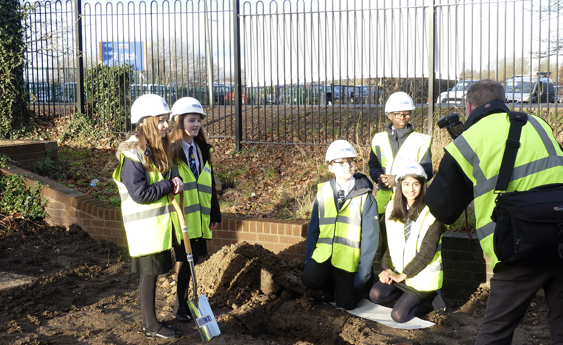Time Capsule being placed at Kettlethorpe new school building December 2020