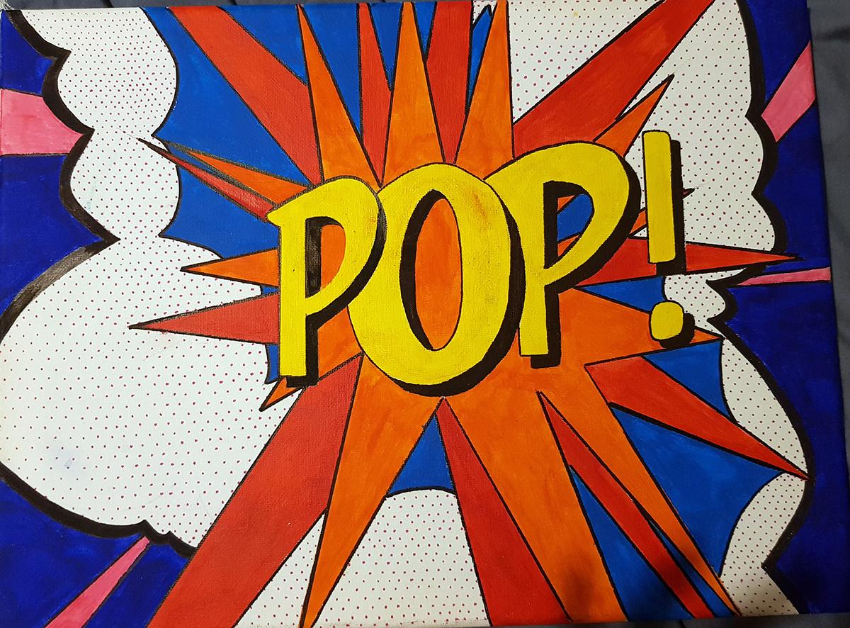 Year 9 Pop art homework - January 2021