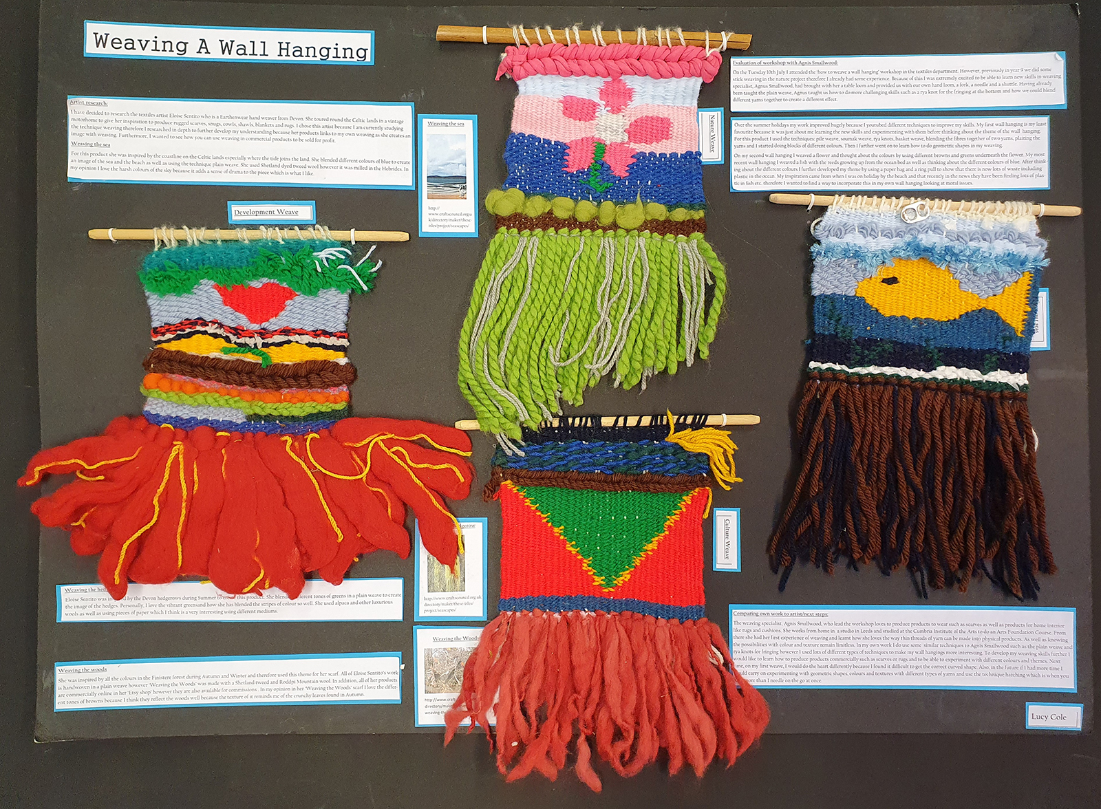 Former Y11 Textile Design pupils showcase their GCSE projects
