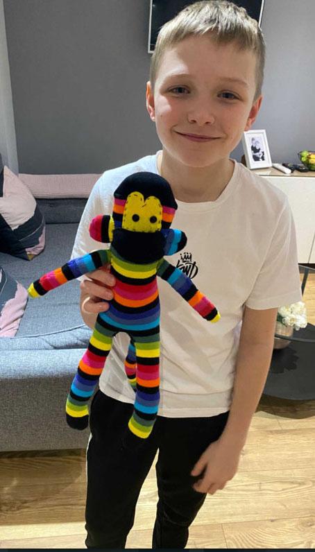 Year 7 sock monkey project winner!