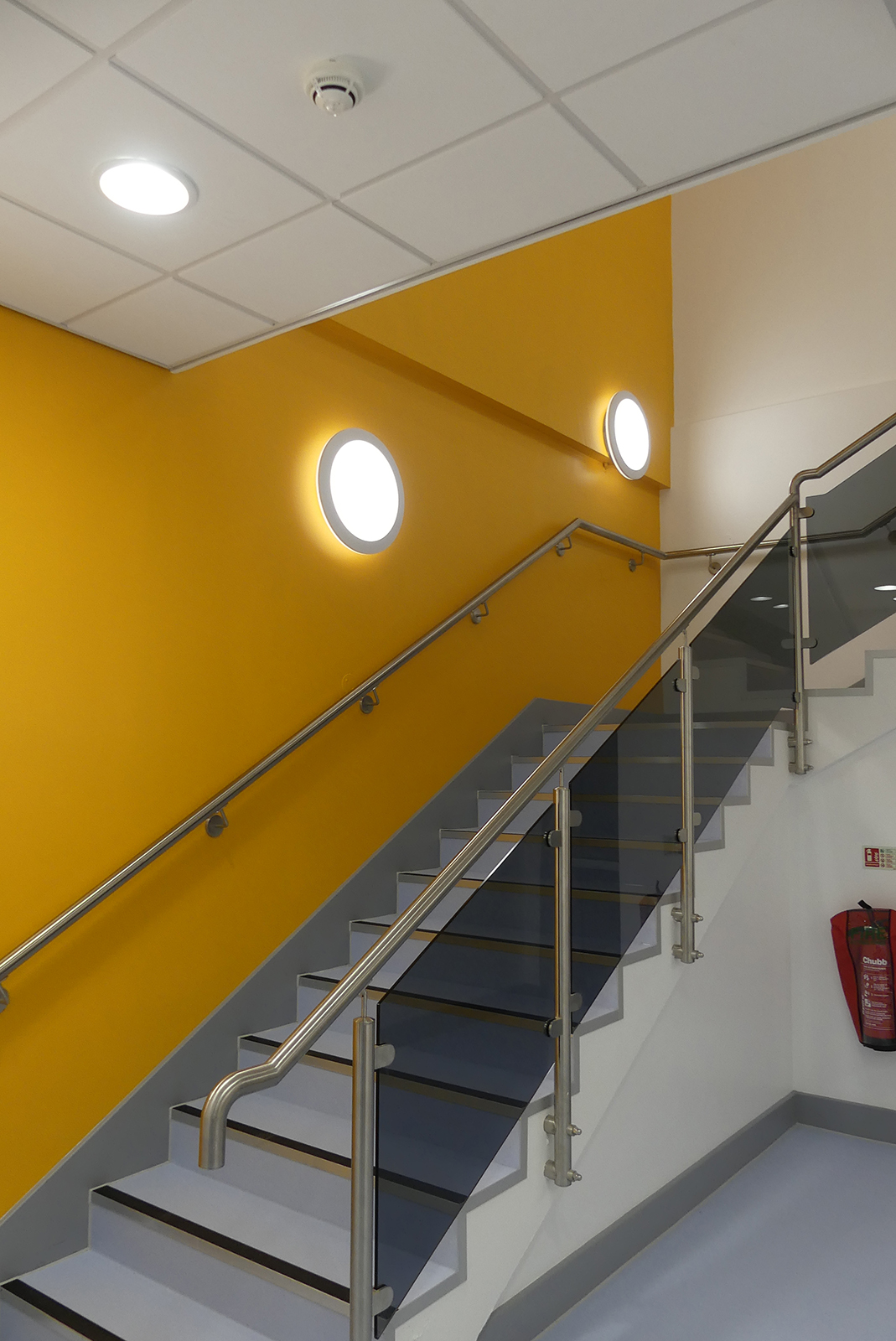 Staircase in our newly built block - February 2021