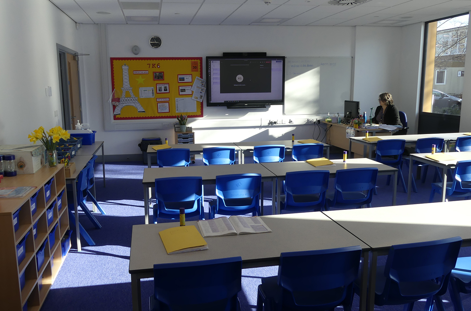 Classroom in our newly built block - February 2021