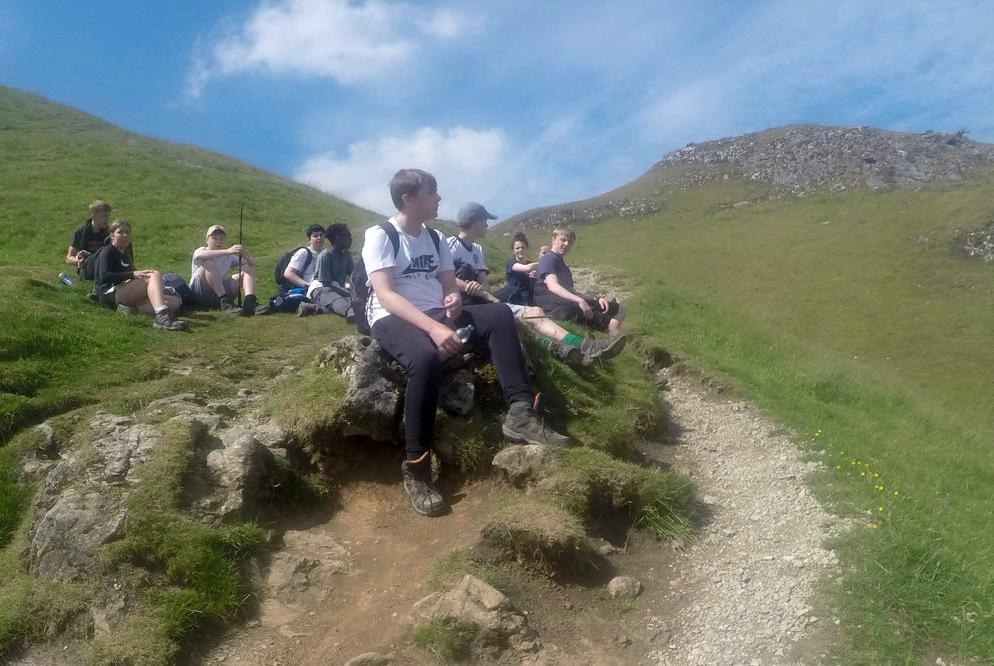 Y10 Outdoor Pursuits hike to Mam Tor