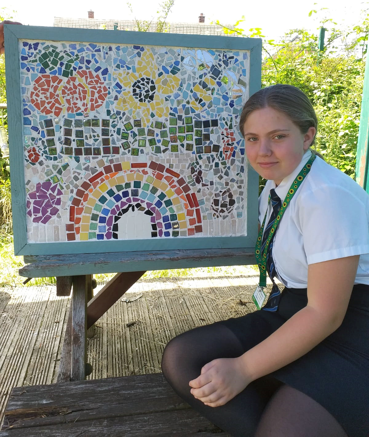Crystal in Y8 and her mosaic