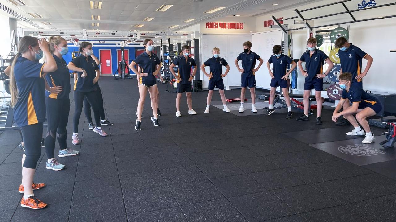 Y10 GCSE PE pupils at a training session - St George's Park